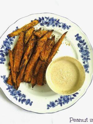 Storia di un innamoramento: chips di patate dolci e salsa tahina