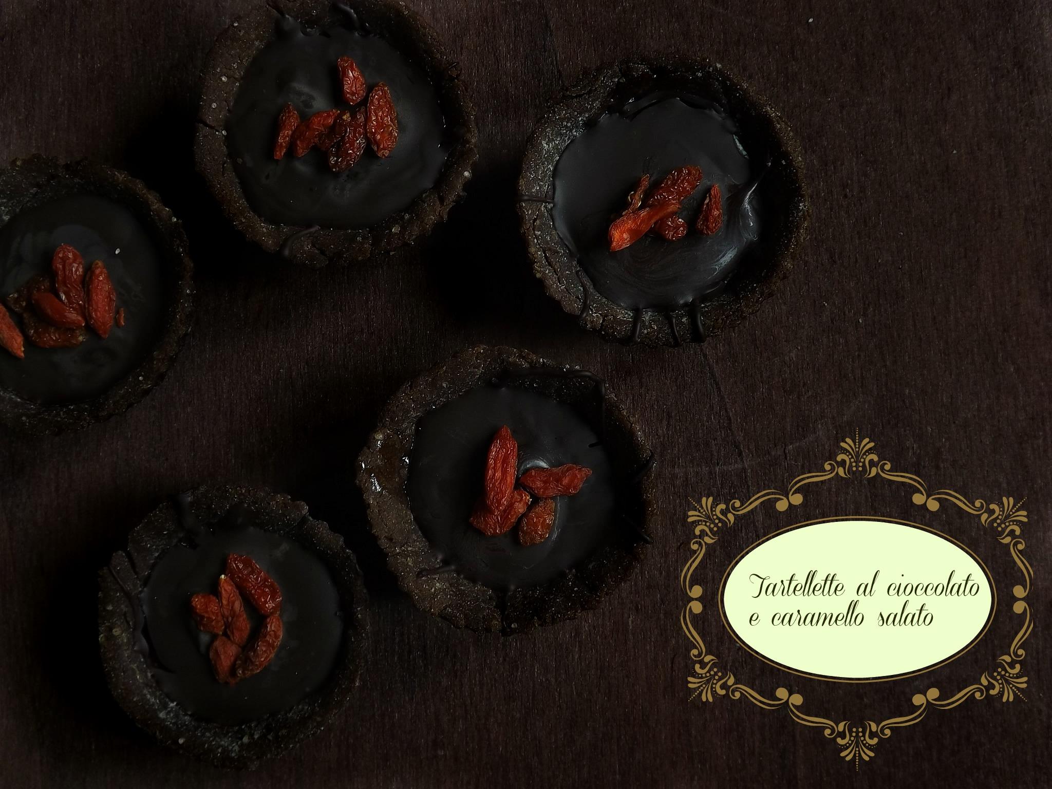 Chocolate and salted caramel gluten free tarts