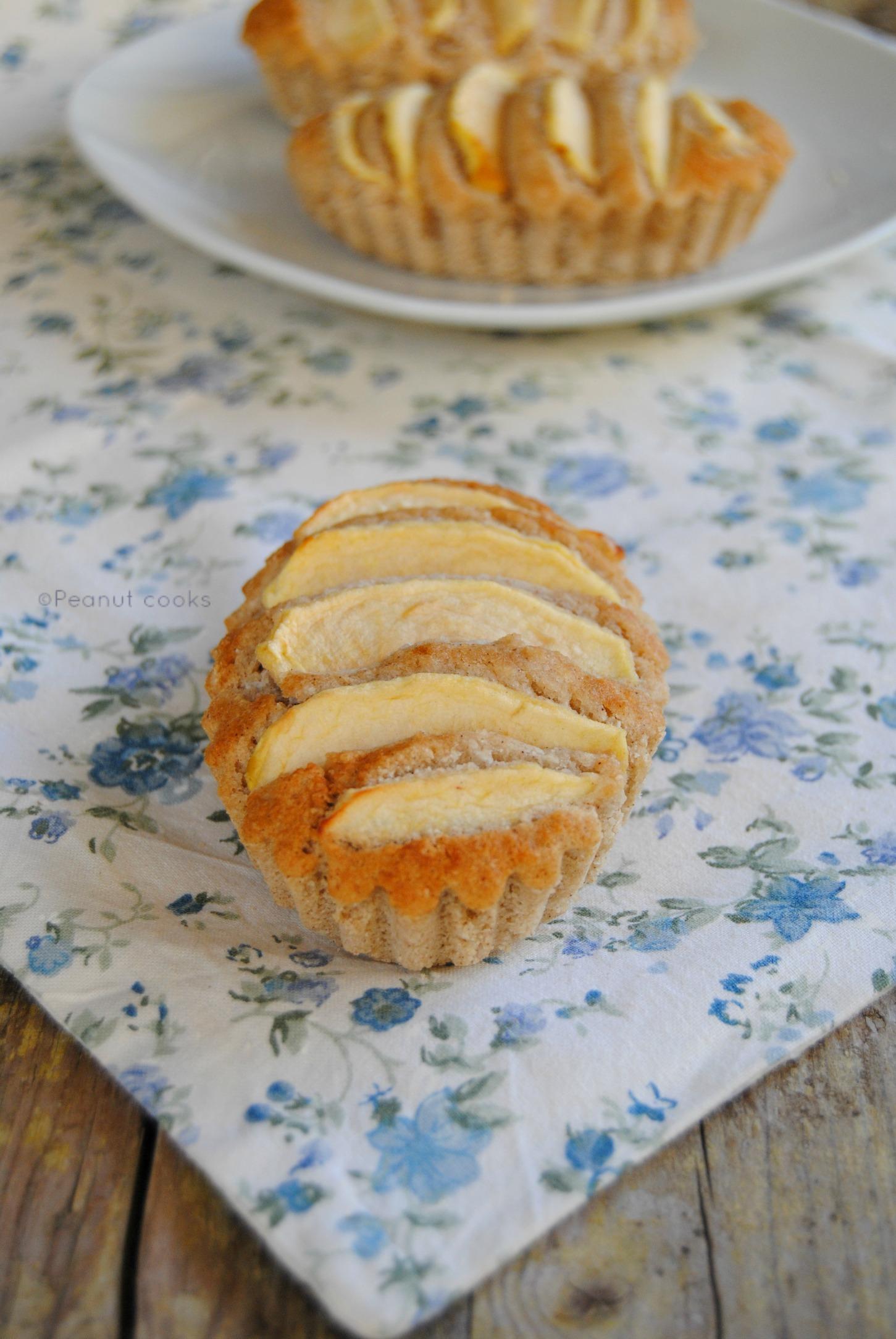 Tortine di mela, cocco e fava tonka (senza glutine, zucchero e olio (con water roux)
