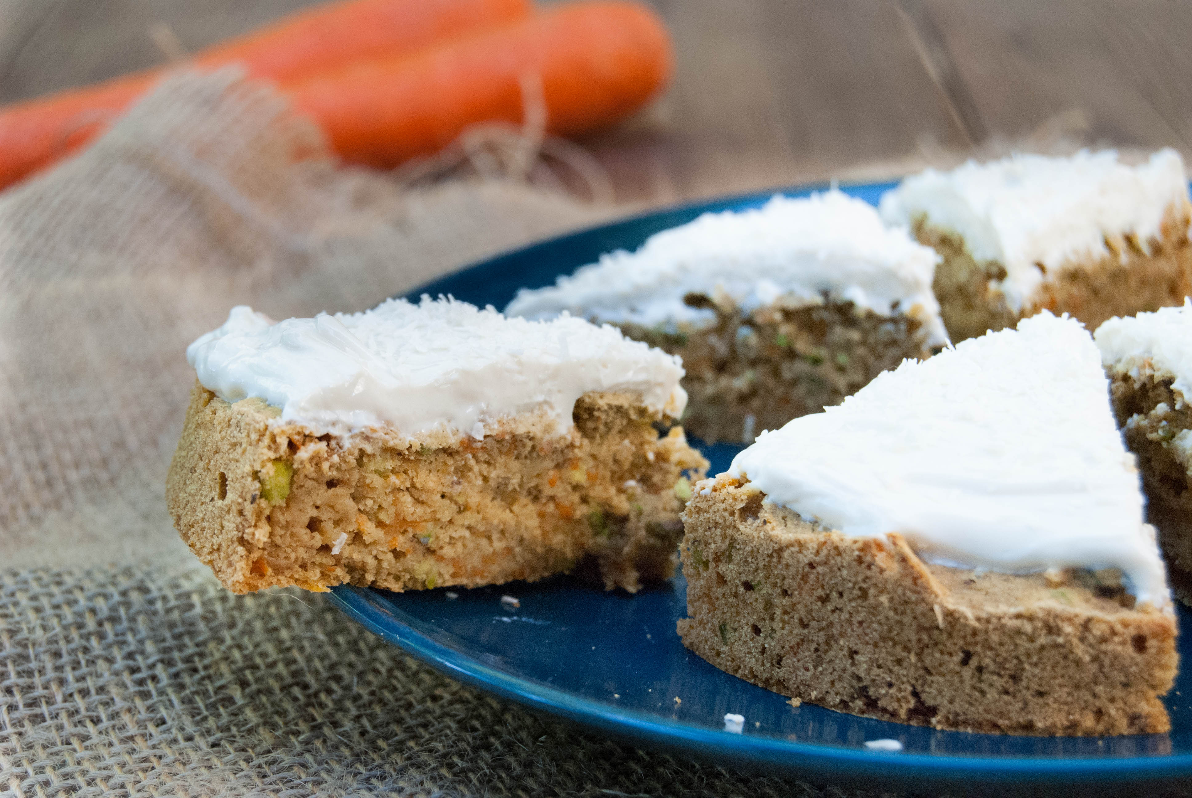 Single serve carrot cake (sugar free, low fat)