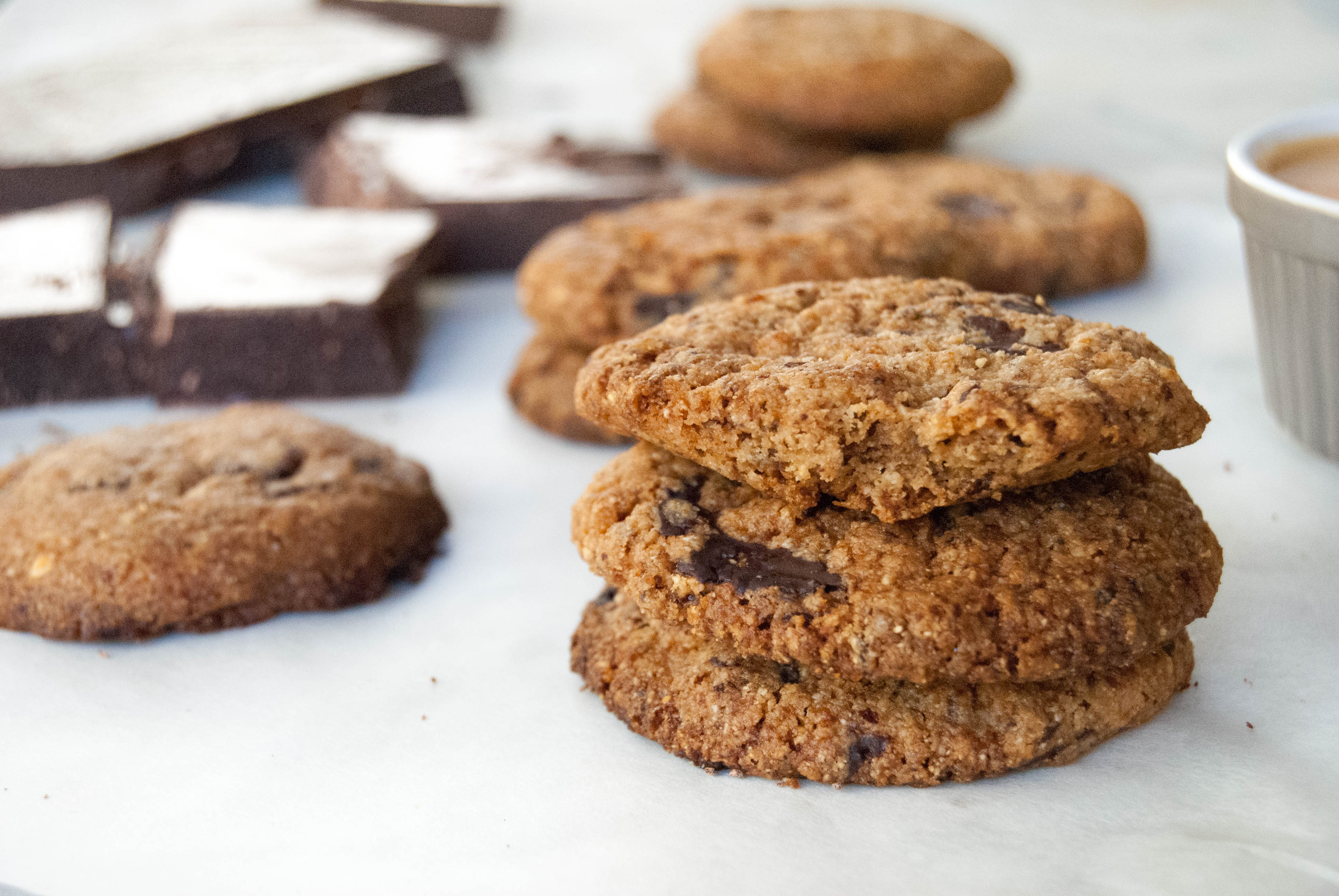 Paleo vegan sugar free chocolate chip cookies