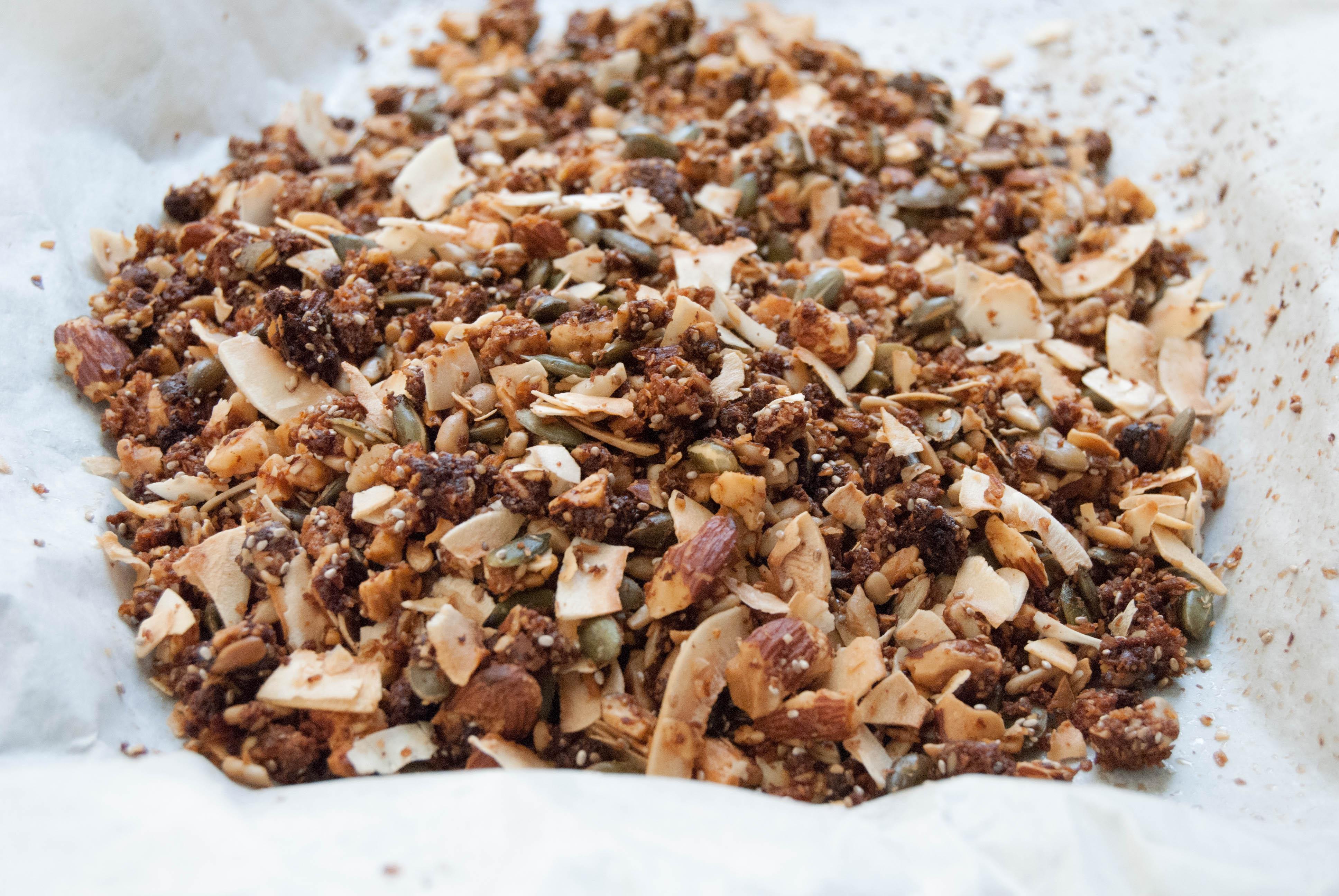 Paleo granola di frutta secca e semi