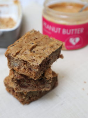 Sweet potato peanut butter blondies