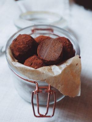 Tartufini alla zucca e cioccolato