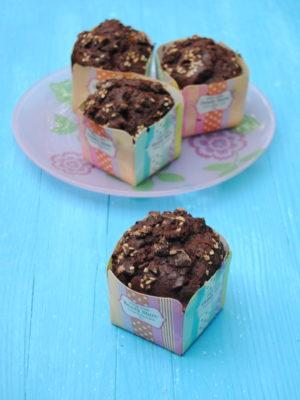 La cioccolata ci salverà (Muffin vegan e gluten free al doppio cioccolato)