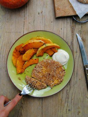 Cotolette di lupino e zucca al forno. Il comfort food che (mi) fa bene.