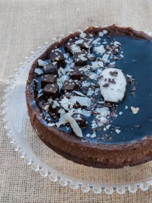 Cheesecake vegan al cappuccino e caramello al latte di cocco per il mio ventiquattresimo compleanno