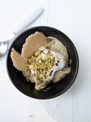 Gelato al pistacchio con ingrediente segreto